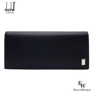 ダンヒル 財布 メンズ 19F2F10AT 001 DUNHILL 二つ折り長財布 小銭入れ付き サイドカー レザー ブブラック excelworld