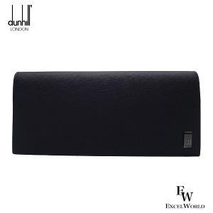 ダンヒル 財布 メンズ 19F2F10SG 001 DUNHILL 二つ折り長財布 小銭入れ付き サイドカー レザー ブ ブラック/ガンメタル excelworld