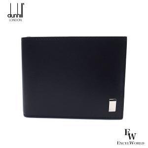 ダンヒル 財布 メンズ 19F2F32AT 001 DUNHILL 二つ折り財布 小銭入れ付き サイドカー レザー ブラック excelworld