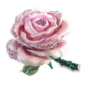 ジュエリーボックス(宝石箱) バラA ピンク 219-3|excelworld