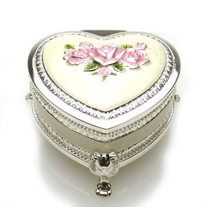 ジュエリーボックス(宝石箱) ハートバラ 225-1 ピンク|excelworld