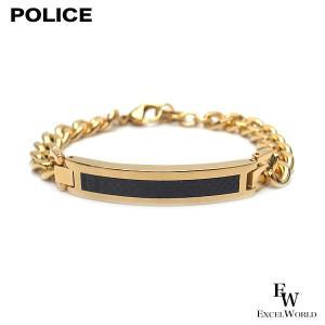 ポリス POLICE ブレスレット DETROIT ステンレス 25141BSG02 ゴールド|excelworld