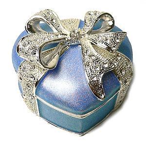 ジュエリーボックス(宝石箱)   ハート 水色 268-2|excelworld