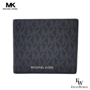 マイケルコース 財布 Michael Kors アウトレット メンズ 二つ折り財布 小銭入れ付き 3...