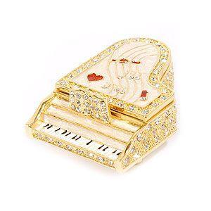 ジュエリーボックス(宝石箱)グランドピアノ 378-2 ホワイト|excelworld