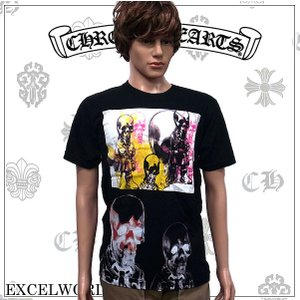 CHROME HEARTS クロムハーツ 半袖 Tシャツ MED BLK F14-2B MULTICLR|excelworld