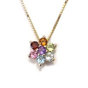 K10 YG Multi-color&Amulet アミュレット ネックレス 508860|excelworld