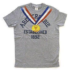 abercrombie アバクロンビー キッズ Tシャツ グレー Lサイズ|excelworld