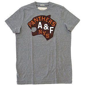 Abercrombie&Fitch アバクロンビー&フィッチ Tシャツ メンズ  ライトグレー Mサイズ excelworld