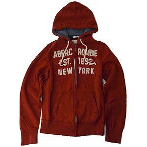 Abercrombie&Fitch アバクロンビー&フィッチ パーカー メンズ Lサイズ レッド excelworld
