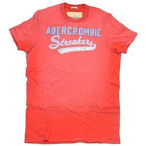 Abercrombie&Fitch アバクロンビー&フィッチ Tシャツ メンズ  Lサイズ レッド系 excelworld