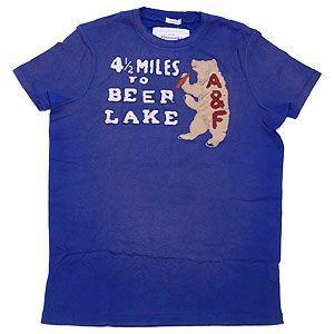 Abercrombie&Fitch アバクロンビー&フィッチ Tシャツ メンズ  Lサイズ ネイビー excelworld