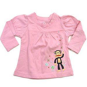 SMALL PAUL スモールポール アパレル KIDS 長袖Tシャツ ピンク系|excelworld