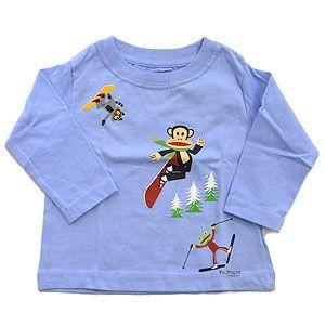 SMALL PAUL スモールポール アパレル キッズ 長袖Tシャツ ソフトブルー 12M|excelworld
