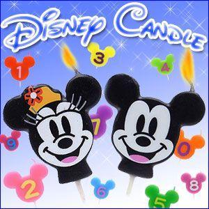 Disny ディズニー ナンバーキャンドル 【0〜9】 ミッキー ミニー 全12種類|excelworld