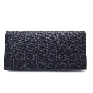 カルバンクライン 財布 Calvin Klein メンズ 二つ折り長財布 小銭入れ付き 79467 レザー モノグラム ブラック excelworld