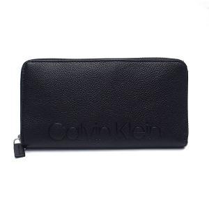 カルバンクライン 財布 Calvin Klein 長財布 79474 レザー ロゴ型押し 専用ボックス付き ブラック excelworld
