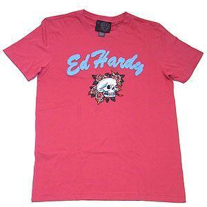 EDHARDY エドハーディー メンズ ラブキルススローリー&ローズ Tシャツ 82351 レッド エクセルワールド ブランド プレゼントにも excelworld
