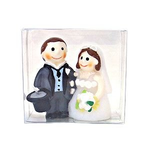 新郎新婦 ハッピーウエディング 結婚式 マリッジ ろうそく キャンドル B5521-00-00|excelworld