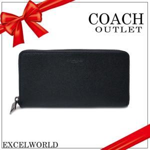 COACH コーチ アウトレット 長財布 クロスグレーン レザー アコーディオン ジップ アラウンド F58107 BLK ブラック|excelworld