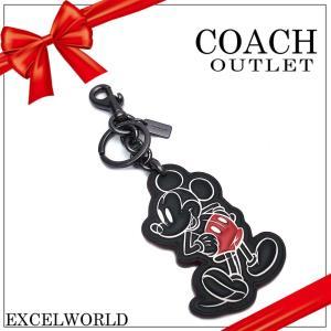 COACH コーチ アウトレット キーホルダー ミッキー ディズニー コラボ F58994 BKBLK ブラック excelworld