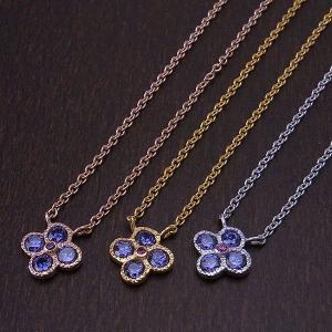 ネックレス ペンダント フラワー 真鍮 シンセチック  アメジスト flower am|excelworld