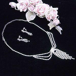 ウェディング パーティー 結婚式 二次会 用 ネックレス イヤリング 2点セット オーストラリアンクリスタル JAW0096|excelworld