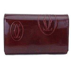 CARTIER カルティエ 財布 ハッピーバースデー 二つ折り財布 ボルドー L3000347 excelworld