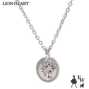 ライオンハート ネックレス LION HEART ライオンコイントップ ペンダント ネックレス LHMN010H エクセルワールド メンズ レディース プレゼント|excelworld