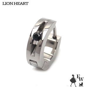 ライオンハートLION HEART ピアス ステンレス メンズ  LHMP001NS シルバー 片耳ピアス エクセルワールド プレゼント アクセサリー|excelworld