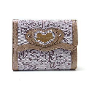 Pinky Wolman ピンキーウォルマン 財布 リリー がま口 折財布 PW43601-D  ブラウン|excelworld