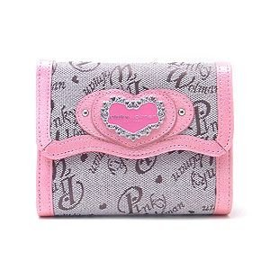 Pinky Wolman ピンキーウォルマン 財布 リリー がま口 折財布 PW43601-j ピンク|excelworld