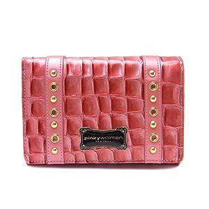 Pinky Wolman ピンキーウォルマン 二つ折り財布 ジュディ PW43701-J ピンク|excelworld