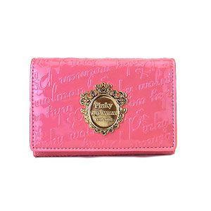 Pinky Wolman ピンキーウォルマン 二つ折り財布 ニーノ ファスナー PW56201-J ピンク|excelworld