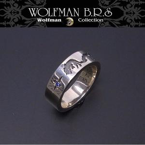 WOLFMAN B.R.S ウルフマン リング ウルフバンドリング R-062-17 エクセルワールド アクセサリー ブランド プレゼントにも|excelworld