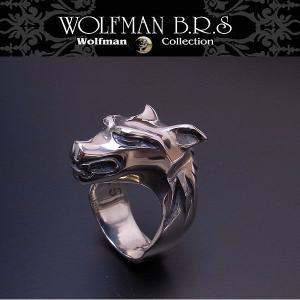 WOLFMAN B.R.S ウルフマン リング ウォーウルフ R27 エクセルワールド アクセサリー ブランド プレゼントにも|excelworld