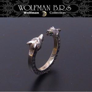 WOLFMAN B.R.S ウルフマン リング Wヘッドストーン R43 エクセルワールド アクセサリー ブランド プレゼントにも|excelworld