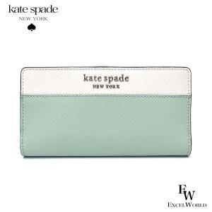 ケイトスペード 財布 アウトレット 二つ折り財布 WLRU6016 307 kate spade ミントグリーンマルチ エクセルワールド おしゃれ かわいい ブランド excelworld