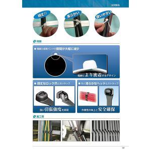 パンドウイット スーパーグリップ 電工用 ナイロン結束バンド 耐候性黒 幅2.3mm 長さ79mm ...