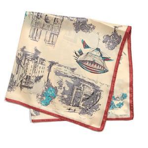 【SALE 10】manipuri マニプリ scarf シルクスカーフ 65×65 レディース 0111330001 VILLE TOILE OFF WHITE exclusive