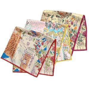 【SALE 10】manipuri マニプリ scarf シルクスカーフ 65×65 レディース 0111330005 CORDOBA BLUE LIGHT PINK ORANGE exclusive