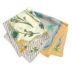 【SALE 30】manipuri マニプリ scarf シルクスカーフ 65×65 レディース 0111330011 FLEUR OFF WHITE ORANGE exclusive