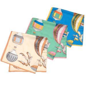 【SALE 30】manipuri マニプリ scarf シルクスカーフ 65×65 レディース0111330020 CLASSICBALLON BEIGE GREEN BLUE exclusive
