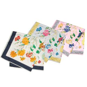 【SALE 30】manipuri マニプリ scarf シルクスカーフ 65×65 レディース0111330022 HYDRANGEA WHITE LIGHT GREY PINK exclusive
