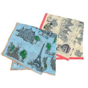 【SALE 10】manipuri マニプリ scarf コットンシルクストール 120×120 レディース0111333001 STOLE VILLE TOILE LIGHT BLUE OFF WHITE exclusive