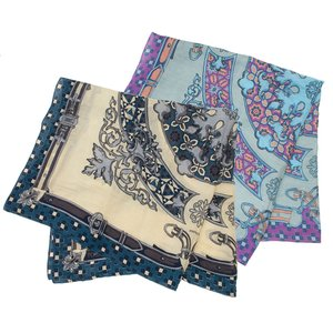 【SALE 30】manipuri マニプリ scarf コットンシルクストール 120×120 レディース0111333004 STOLE COLLAGE RELIEF exclusive