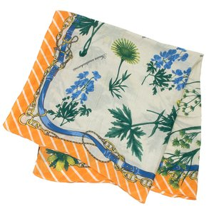 【SALE 10】manipuri マニプリ scarf コットンシルクストール 120×120 レディース0111333010 STOLE  FLEUR ORANGE exclusive