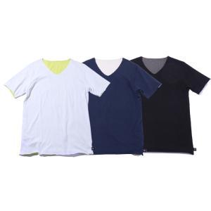 wjk bi color cut&sew ショートスリーブバイカラーTシャツ カットソー メンズ 21ss 10/white×yellow 59/navy×beige 99/black×chacoal 7314cj24t|exclusive