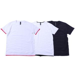wjk layered T(jacquard CAMO) ショートスリーブレイヤードジャガードカモTシャツ カットソー メンズ 21ss 14/wht×pink 19/wht×blk 51/navy×wht 7834jd19t|exclusive