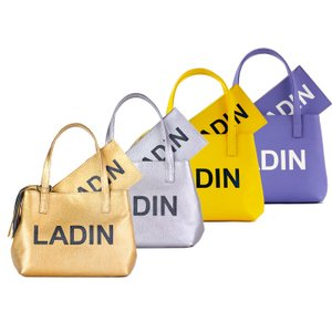 LADIN ラディン MINI TOTE BAG ミニトートバッグ ユニセックス ゴルフアパレル Gold Silver Yellow Purple|exclusive